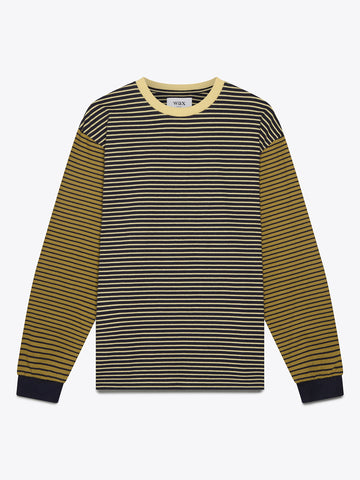 Navy and Mustard Hayden Long Sleeve