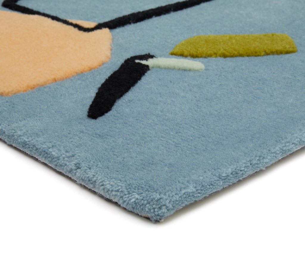 Limits of Communication Hand Tufted Rug