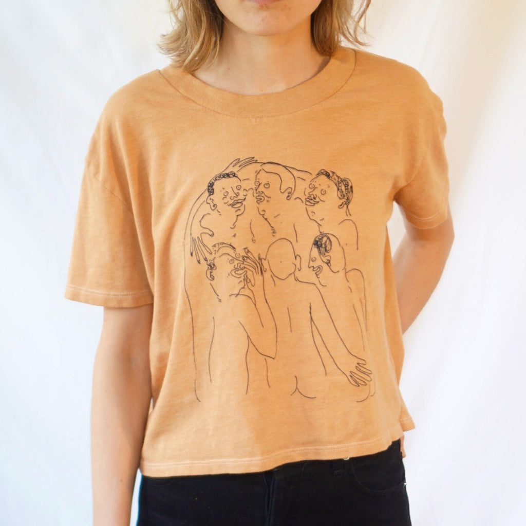 Camel Naked Party Crop Tee