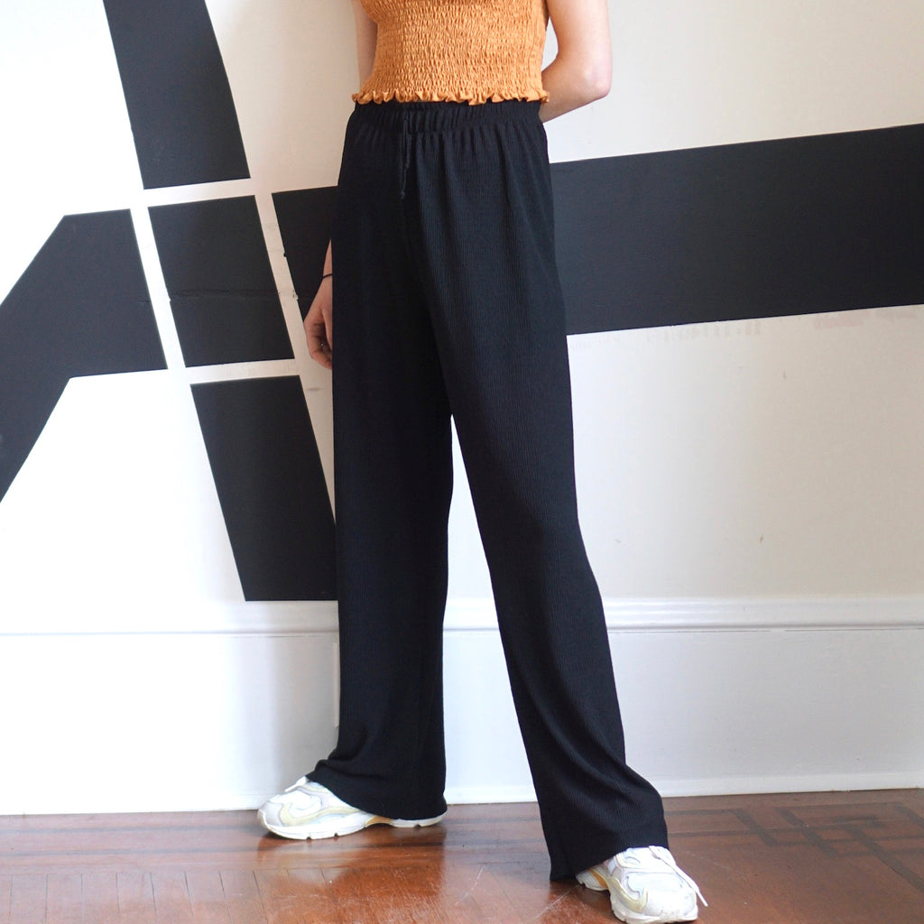 Black Dalita Pleated Pants