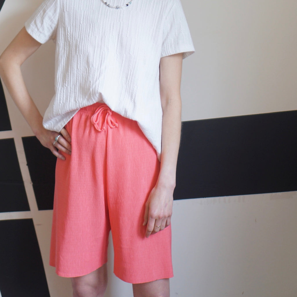 Pink Tais Pleated Short