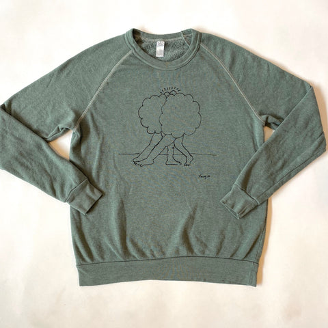 Cloud Buds Green Sweatshirt