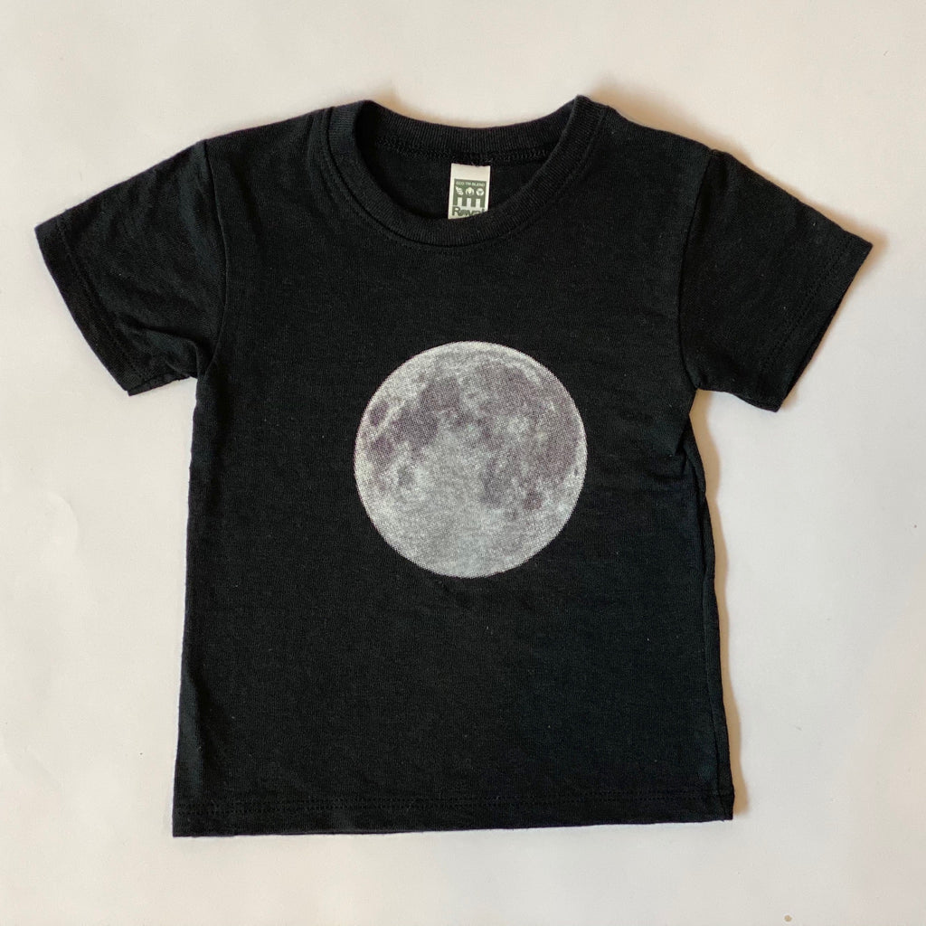 Full Moon Baby Black Tee