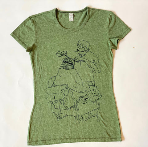 Heather Green Cactus Haircut Tee