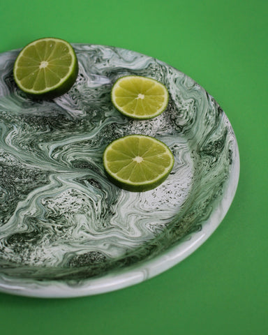 Green Soft Ice Dinner Plate