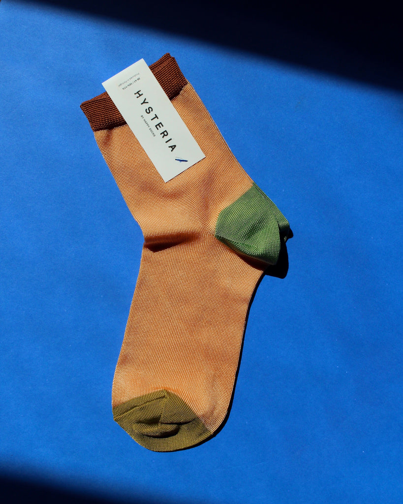 Grace Ankle Socks - Peach / Green / Copper