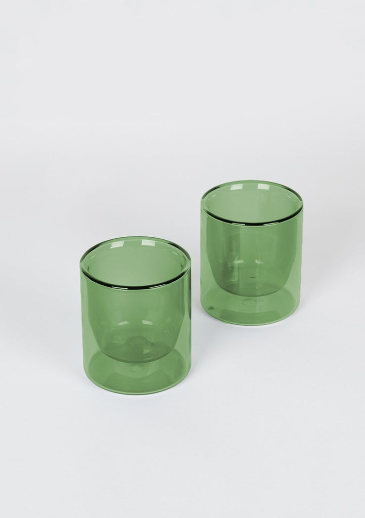 Verde Double-Wall 6oz Glasses- Set of 2