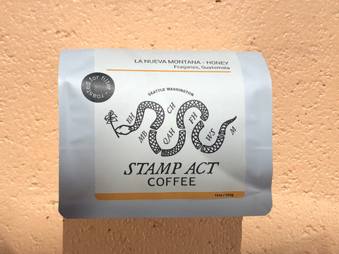 La Nueva Montana Stamp Act Coffee