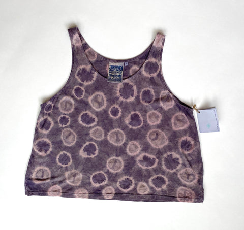 Purple Tie Dye Crop Tank
