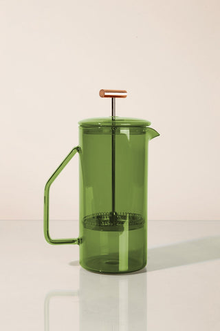 850 mL Glass French Press in Verde