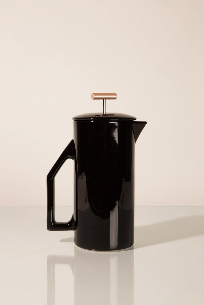 Glossy Black French Press