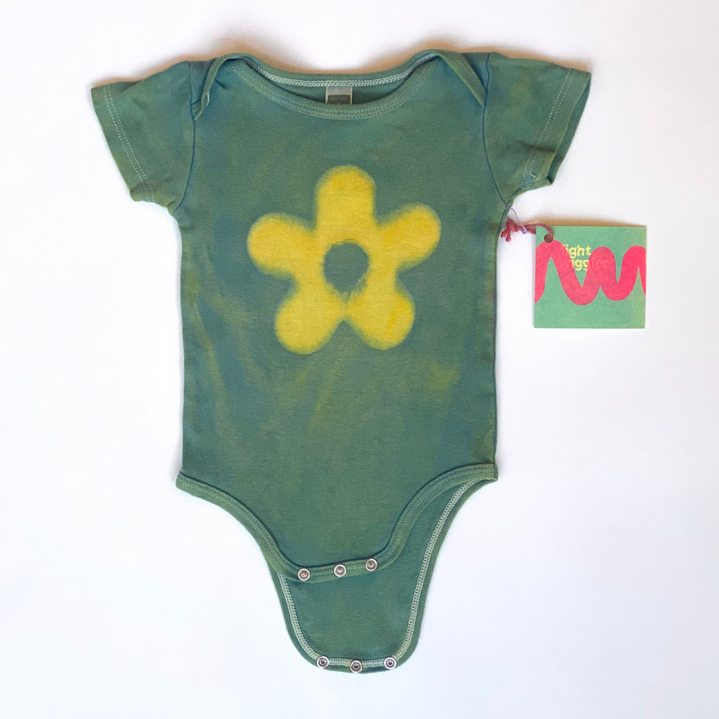 Blue & Yellow Daisy Onesie