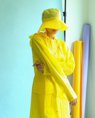 Foggy Yellow Hooded Coat