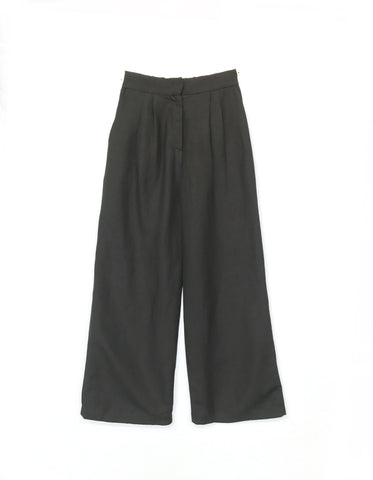 Black Wide Trouser