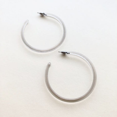 Lucite Large Hoops