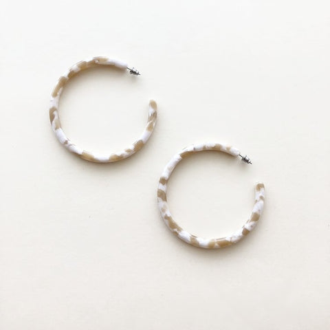 Taupe Shell XL Hoops