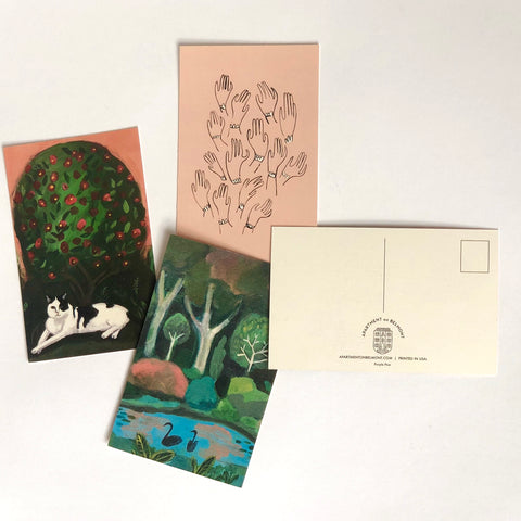 Set of 9 postcards