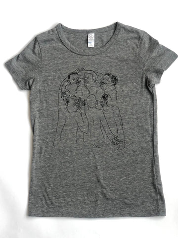 Women's Heather Grey Naked Party T-shirt