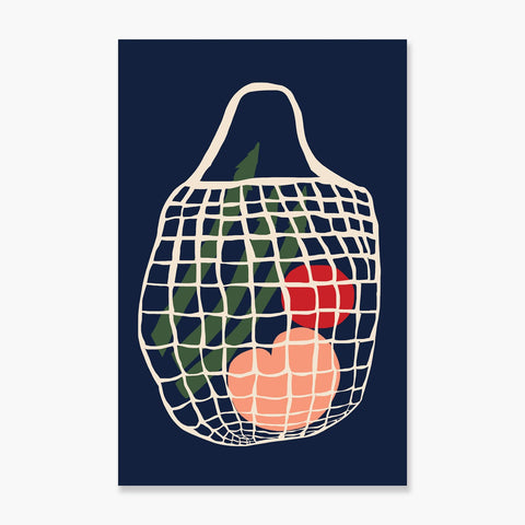 An Ode to my String Bag Art Print