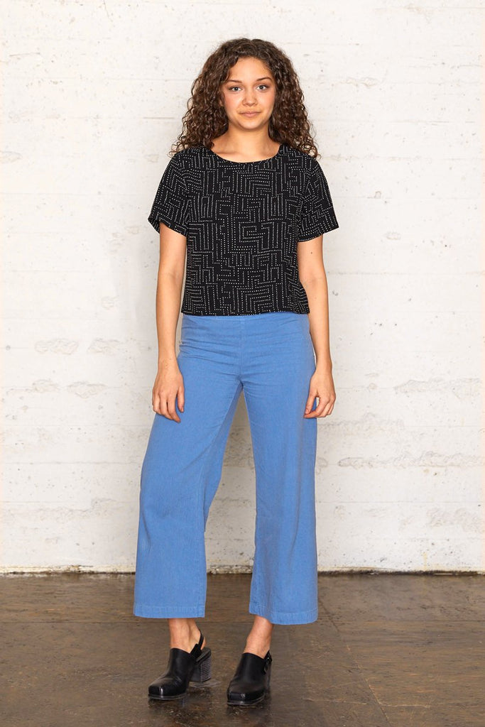 Labyrinth Cropped Blouse