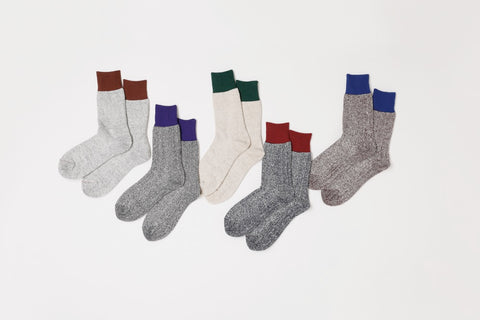 Silk & Cotton Doubleface Socks