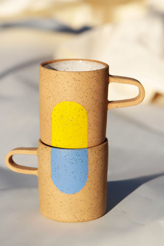 Tall Colored Dot Mug