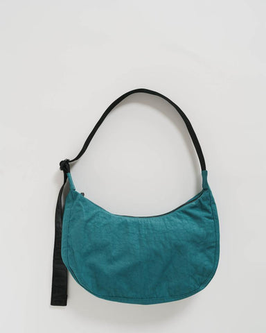 Malachite Nylon Crescent Bag