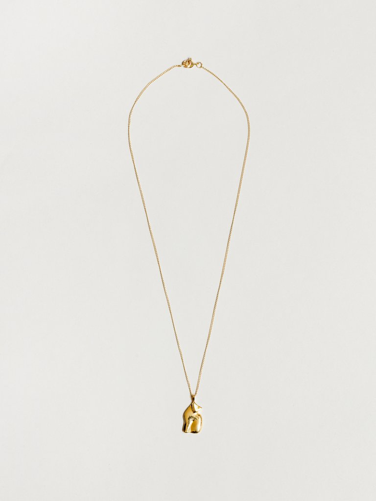 Gold Le Chat Necklace