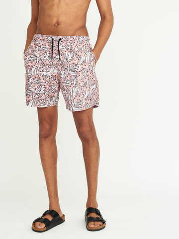 Wave Print Noden Swim Shorts