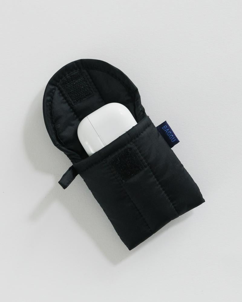 Black Puffy Earbud Case