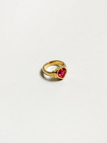 Selena Ruby Heart Ring