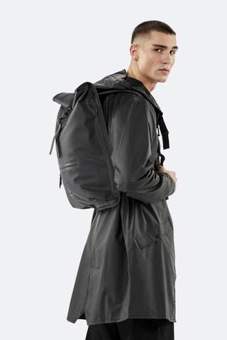 Black Roll Top Rucksack