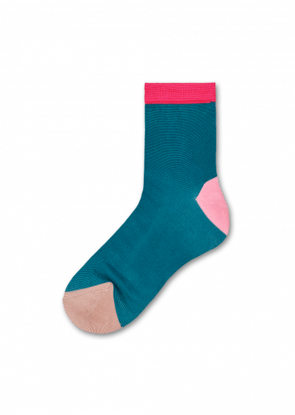 Grace Ankle Socks - Green / Pink