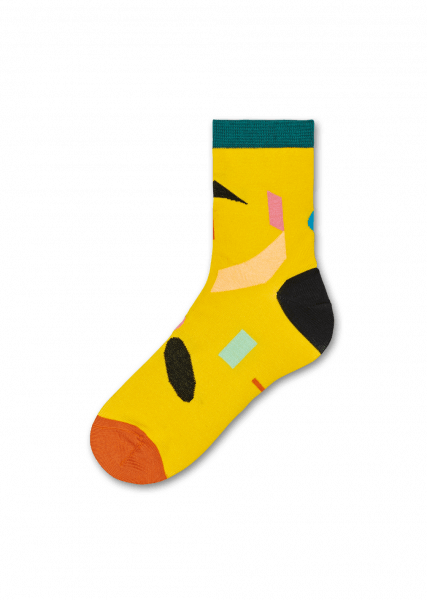 Julia Ankle Socks - Yellow Shapes