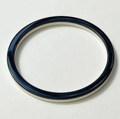 Black and Ivory Thin Bangle
