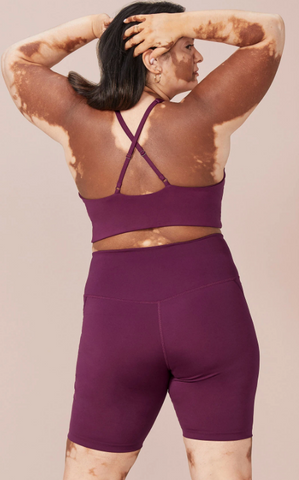 Plum High-Rise Bike Shorts