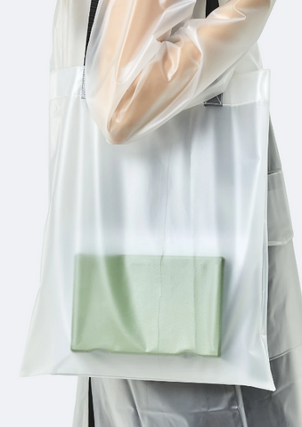 Foggy White Transparent Shopper