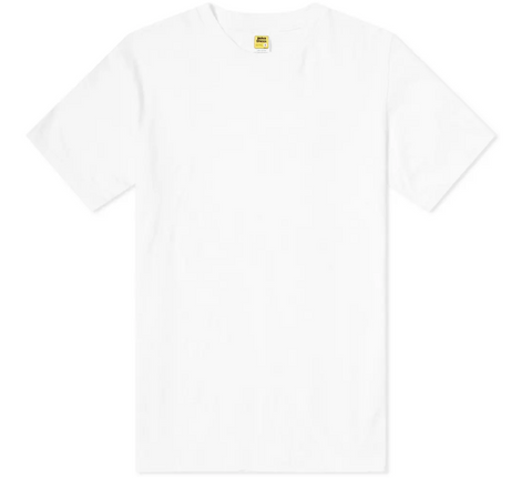 White Rolled T-Shirt