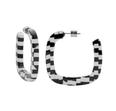 Bizarre Checker Midi Square Hoops