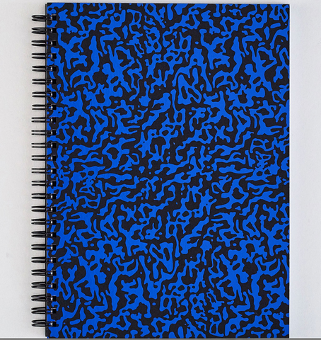 Large Ripple Blue and Black Notebook