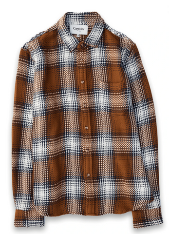 Umber Acid Plaid Shirt