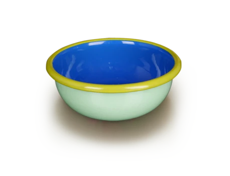 Mint and Electric Blue Bowl