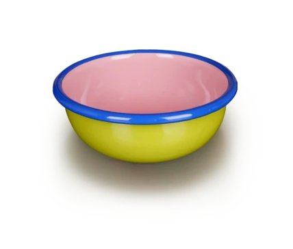 Chartreuse and Pink Bowl