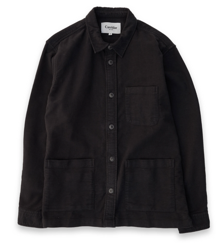 Black Moleskin Over Shirt