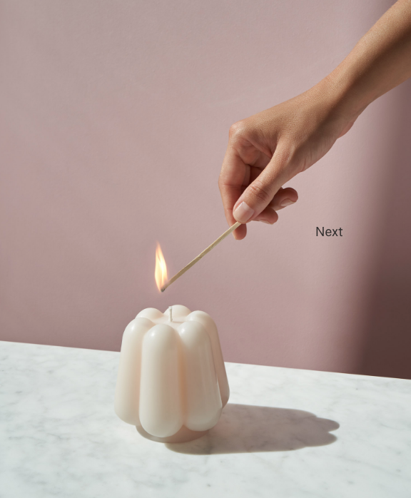 Ivory Candle Sculpture