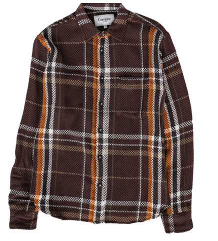 Earth Tone Acid Plaid Shirt