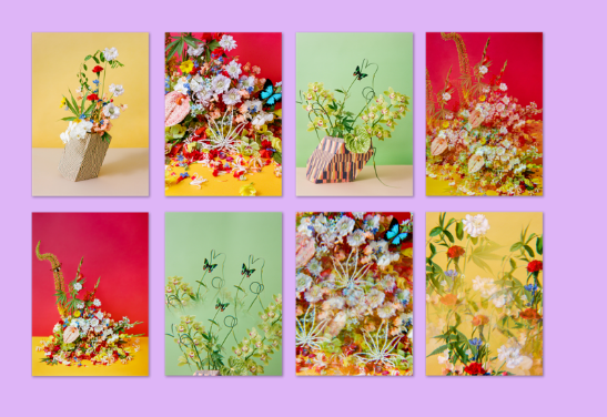 Flower Pot Postcard Set