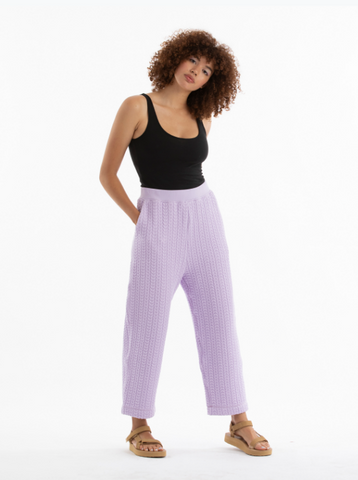 Lilac Quilted Pants