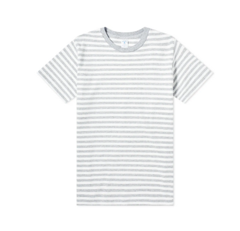 Oat/Heather Gray Stripe Tee