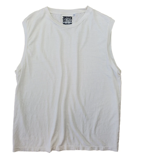 Washed White Malibu Muscle Tee